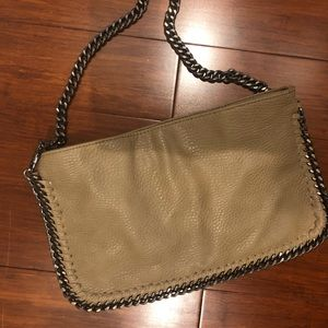 Carlos Leather and Chain Bag